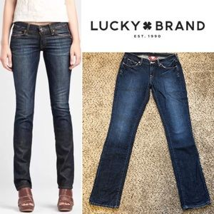 Lucky Brand Zoe Straight Hipster Distressed Low 4